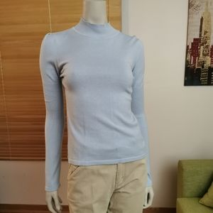 Tommy Hilfiger US S long sleeve knit top baby blue